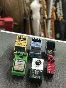 BOSS SD-1 CH-1 Ibanez TS9 OneControl Raspberry Booster EarthQuaker Devices Arrows KORG PB-01